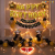 011M - Black & Golden With LED Lights Birthday Decoration Combo Kit - Set of 61