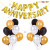 06L - Gold With Balloons Happy Anniversary Decoration Combo Kit - Set of 61 Pieces