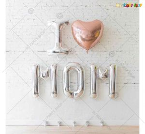 010H - I Love Mom Silver Combo - Set of 5