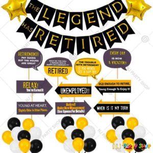 01A - Happy Retirement Decoration Combo - Set of 61