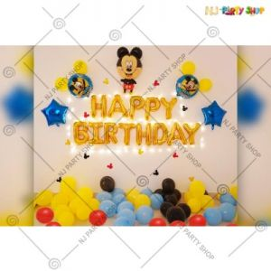 02A - Mickey Mouse Theme Birthday Decoration Combo - Set Of 59