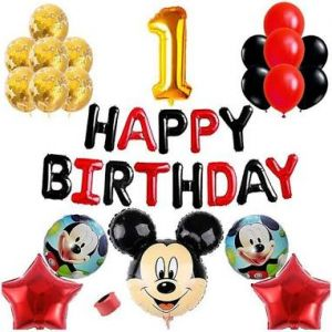 03A - Mickey Mouse Theme Birthday Decoration Combo - Set Of 55