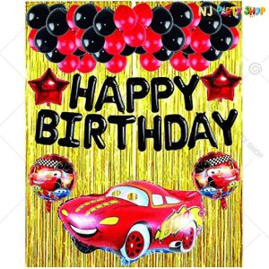 04T - Car Theme Birthday Decoration Combo - Set of 40