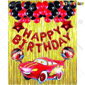 05T - Car Theme Birthday Decoration Combo- Set of 40