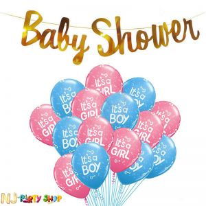 10A Baby Shower Decoration Combo - Set of 26 Pcs