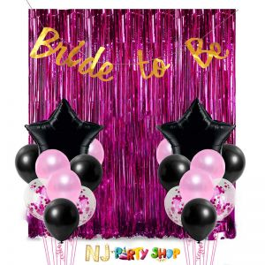 10A Bachelorette Party - Bride To Be - Decoration Combo - Set of 18 Pcs