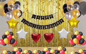 10A Happy Anniversary Decoration Combo - Set of 70 Pcs