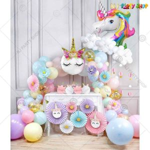 010T - Unicorn Theme Birthday Decoration Combo - Set of 32