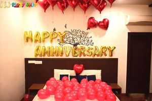 11A Happy Anniversary Decoration Combo - Set of 51 Pcs