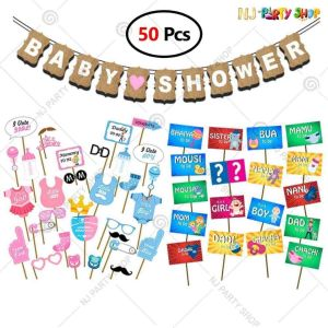 011X - Baby Shower Decoration Combo - Set of 60
