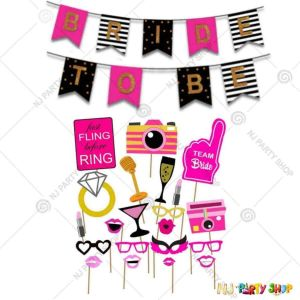 011X - Bride To Be Combo - Bachelorette Party Decorations  - Set of