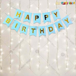 011Y -Blue Birthday Decoration Combo With Lights - Set of 14