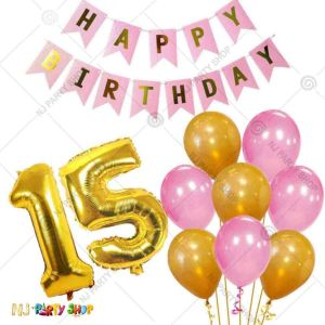 013W - Birthday Party Decoration Combo - Set of