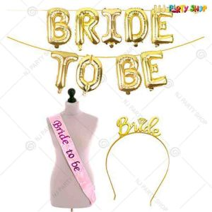 014X - Bride To Be Combo - Bachelorette Party Decorations  - Set of