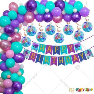 016Q - Mermaid Theme Birthday Party Decoration Combo - Set of
