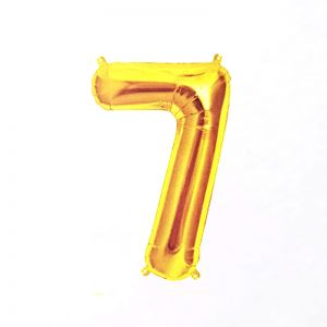 40 Inches Number 7 Golden Foil Balloon