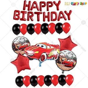 017U -Car Theme Birthday Decoration Combo - Set of 48