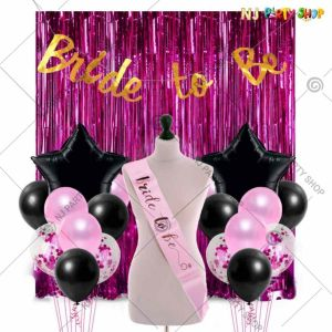 017X - Bride To Be Combo - Bachelorette Party Decorations  - Set of