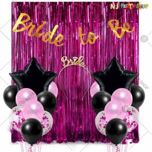 018X - Bride To Be Combo - Bachelorette Party Decorations  - Set of