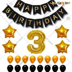 019P - Birthday Party Decoration Combo - Set of