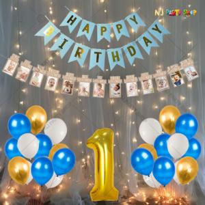 08M - 1st Birthday Decoration Combo Kit - Set of 57