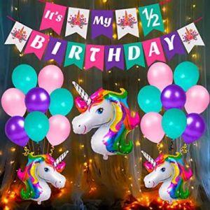 2B - Unicorn Theme Birthday Decoration Combo - Set Of 40