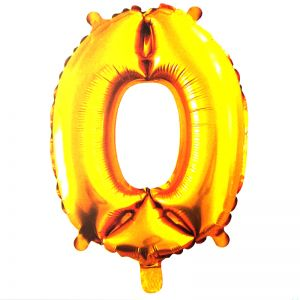 30 Inches Number 0 Golden Foil Balloon