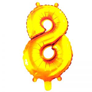 30 Inches Number 8 Golden Foil Balloon