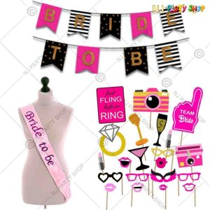08X - Bride To Be Combo - Bachelorette Party Decorations  - Set of