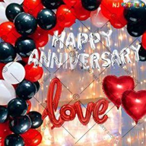 9A - Happy Anniversary Decoration Combo - Set Of 63