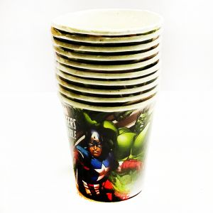 Avenger Theme Paper Cups - Set of 10