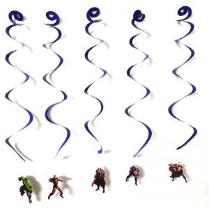 Avenger Theme Swirls/Streamers - Set of 5