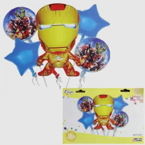 Avengers - Ironman Foil Balloon - Set of 5