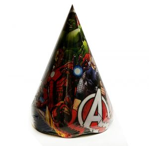 Avengers Theme Birthday Caps - Set of 10