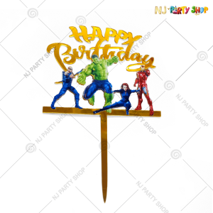 Avengers Theme Happy Birthday Cake Topper