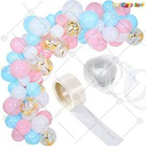 B1 - Balloon Arch Decoration Garland Kit - Blue & Pink - Set Of 82