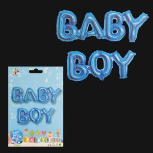 Baby Boy Blue Alphabets Foil Balloon