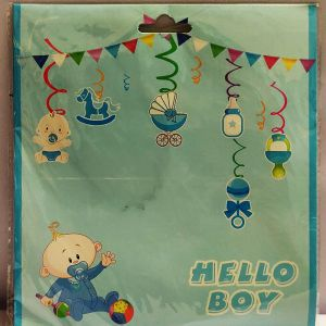 Baby Boy Swirls - Set of 12