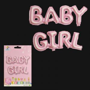 Baby Girl Pink Alphabets Foil Balloon