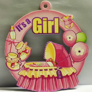 Baby Girl Sunboard Hanging Decoration - Model 1001