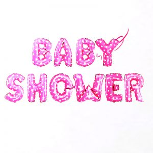 Baby Shower Alphabet Foil Ballloon Set - Pink