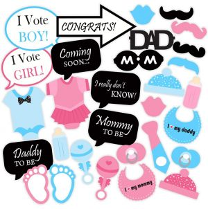 Baby Shower Theme Photo Booth Party Props