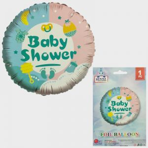 Baby Shower Round Foil Balloon - Model 1001