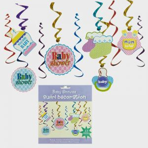 Baby Shower Swirls - Set of 12 - Model 001