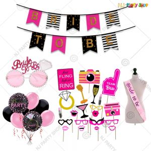 012A - Bride To Be Decoration Combo - Bachelorette Party Decorations