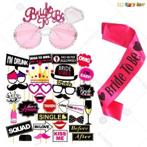 Bachelorette Party Decoration - Bride To Be Combo - 12 A