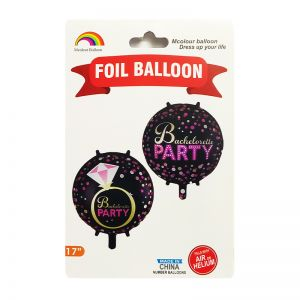 Bachelorette Party Foil Balloon Black