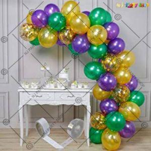 Balloon Arch Decoration Garland Kit - Green & Gold - Set Of 82