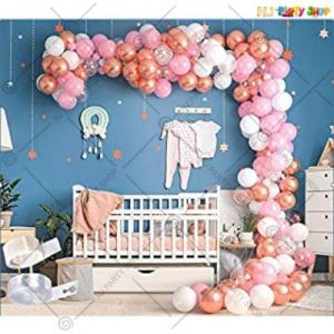Balloon Arch Decoration Garland Kit - Rose Gold  & White  - Set Of 82