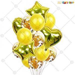 Balloon Combo - Golden - Set Of 14